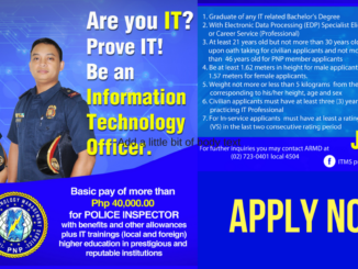 Be an Information Technology Officer at PNP (1)